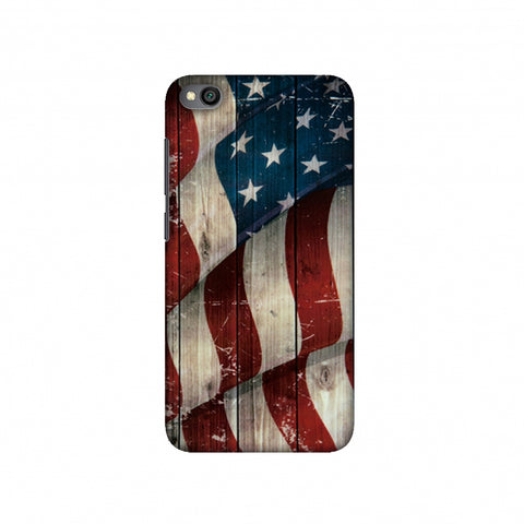 USA Flag - Vintage Wooden Texture Slim Hard Shell Case For Redmi Go