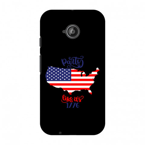 USA Flag - Party Like Its 1776 Slim Hard Shell Case For Motorola Moto E 2nd Gen