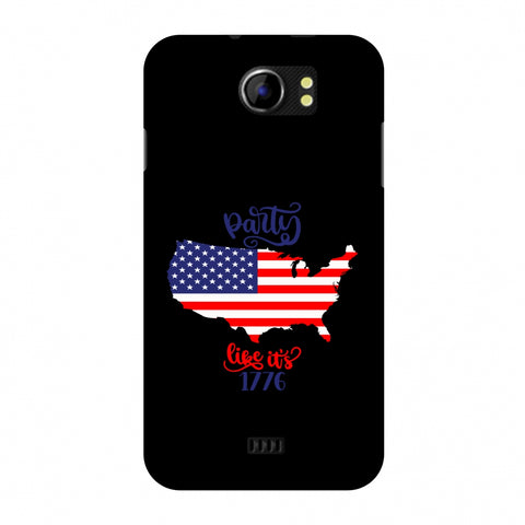 USA Flag - Party Like Its 1776 Slim Hard Shell Case For Micromax Canvas 2 A110