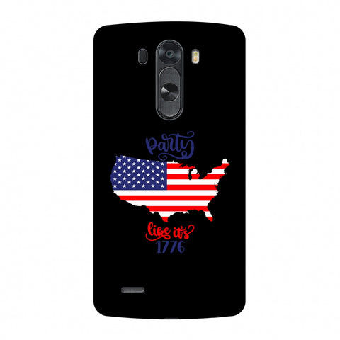 USA Flag - Party Like Its 1776 Slim Hard Shell Case For LG G4