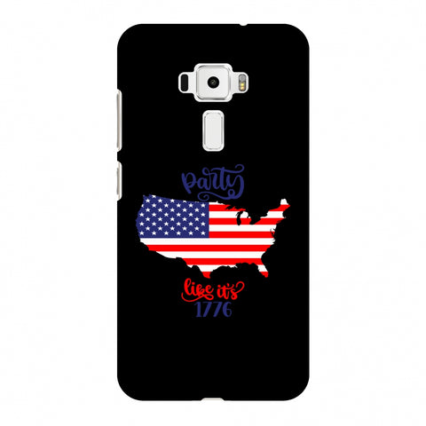 USA Flag - Party Like Its 1776 Slim Hard Shell Case For Asus Zenfone 3 ZE520KL