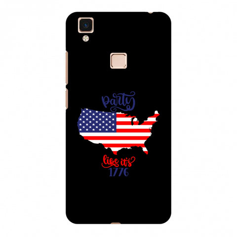 USA Flag - Party Like Its 1776 Slim Hard Shell Case For Vivo V3 Max