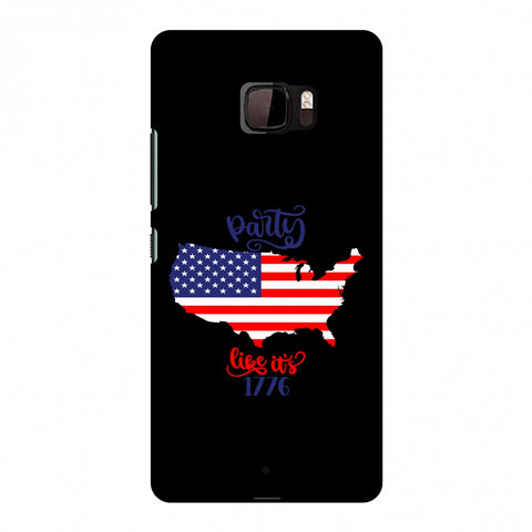 USA Flag - Party Like Its 1776 Slim Hard Shell Case For HTC U Ultra