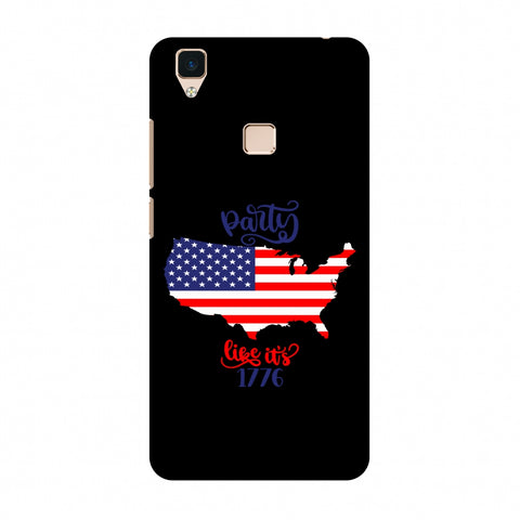 USA Flag - Party Like Its 1776 Slim Hard Shell Case For Vivo V3