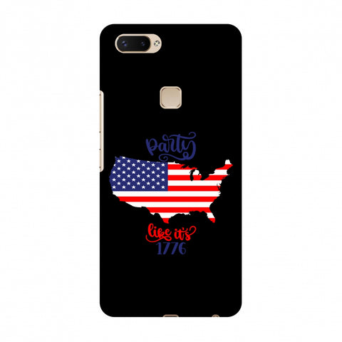 USA Flag - Party Like Its 1776 Slim Hard Shell Case For Vivo X20 Plus
