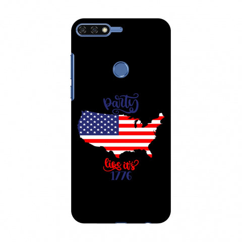 USA Flag - Party Like Its 1776 Slim Hard Shell Case For Huawei Honor 7C