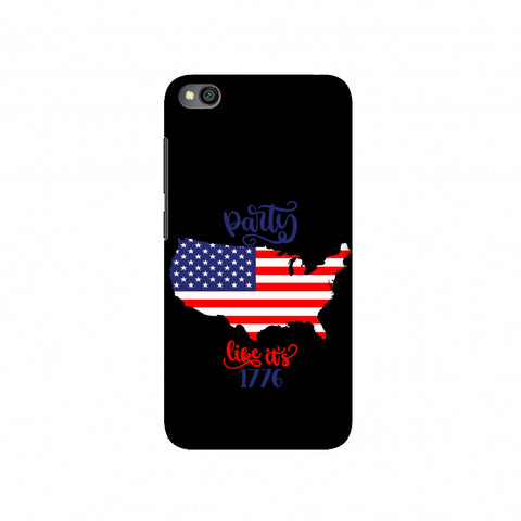 USA Flag - Party Like Its 1776 Slim Hard Shell Case For Redmi Go