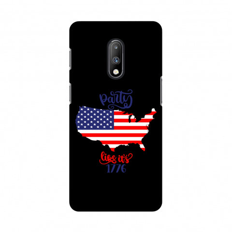 USA Flag - Party Like Its 1776 Slim Hard Shell Case For OnePlus 7