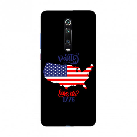 USA Flag - Party Like Its 1776 Slim Hard Shell Case For Redmi K20/K20 Pro