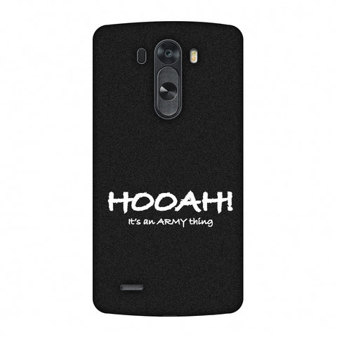 Hooah! - Army Thing Slim Hard Shell Case For LG G4