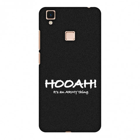 Hooah! - Army Thing Slim Hard Shell Case For Vivo V3 Max
