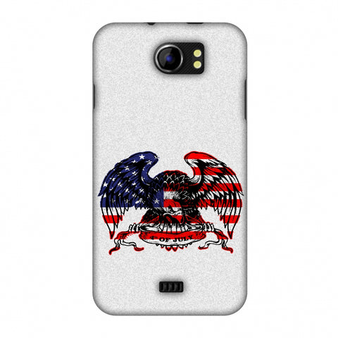 USA Flag - Bald Eagle Slim Hard Shell Case For Micromax Canvas 2 A110