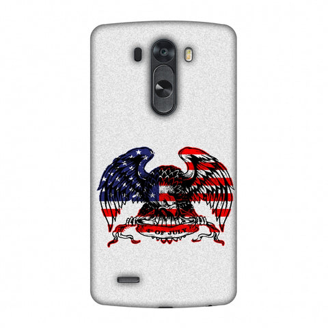 USA Flag - Bald Eagle Slim Hard Shell Case For LG G4