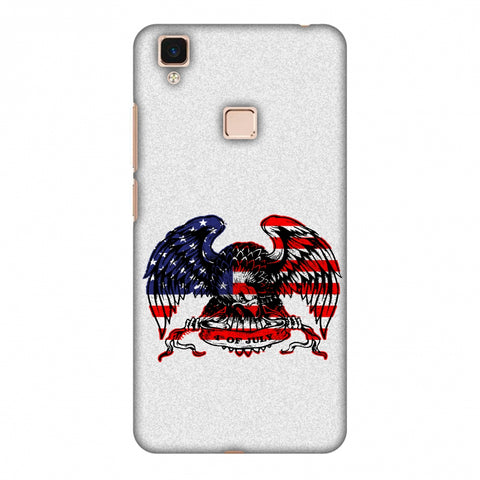 USA Flag - Bald Eagle Slim Hard Shell Case For Vivo V3 Max