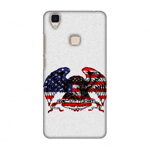 USA Flag - Bald Eagle Slim Hard Shell Case For Vivo V3