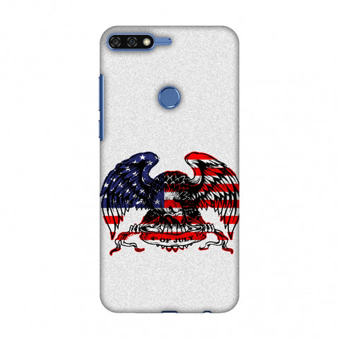 USA Flag - Bald Eagle Slim Hard Shell Case For Huawei Honor 7C