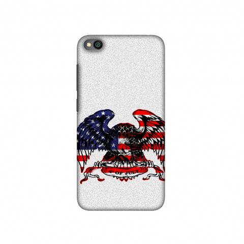 USA Flag - Bald Eagle Slim Hard Shell Case For Redmi Go