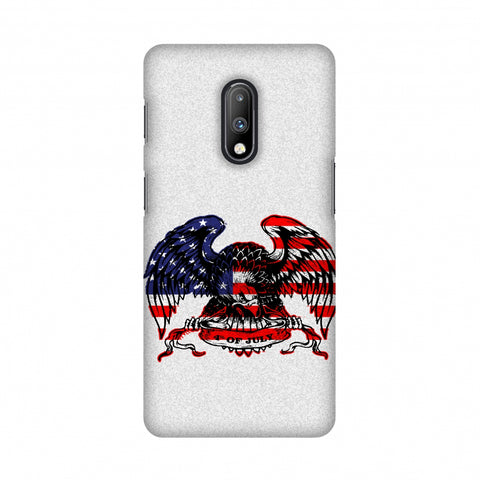 USA Flag - Bald Eagle Slim Hard Shell Case For OnePlus 7