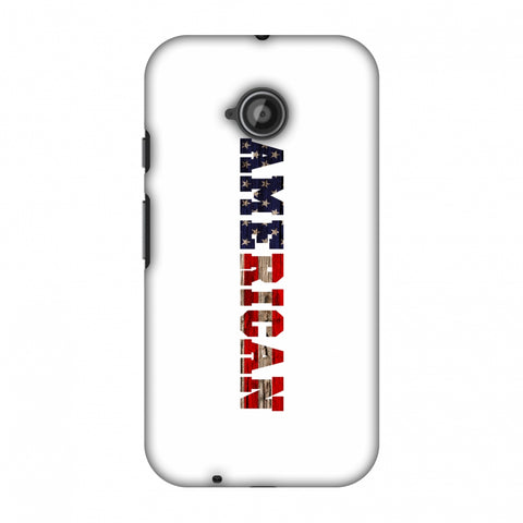 USA Flag - American Textured Slim Hard Shell Case For Motorola Moto E 2nd Gen