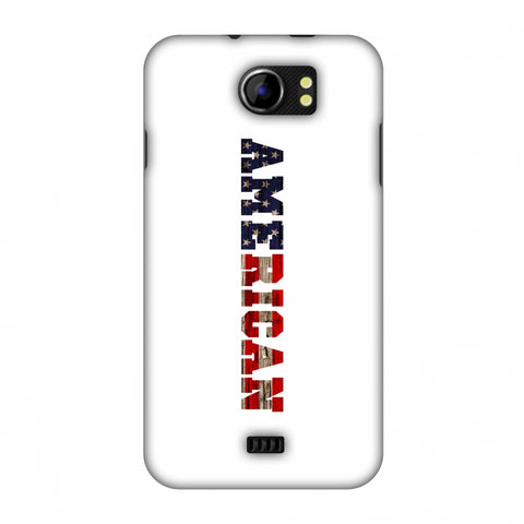 USA Flag - American Textured Slim Hard Shell Case For Micromax Canvas 2 A110