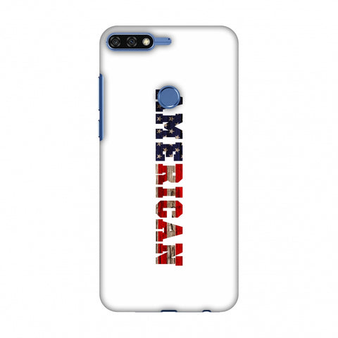 USA Flag - American Textured Slim Hard Shell Case For Huawei Honor 7C