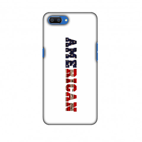 USA Flag - American Textured Slim Hard Shell Case For Oppo Realme C1