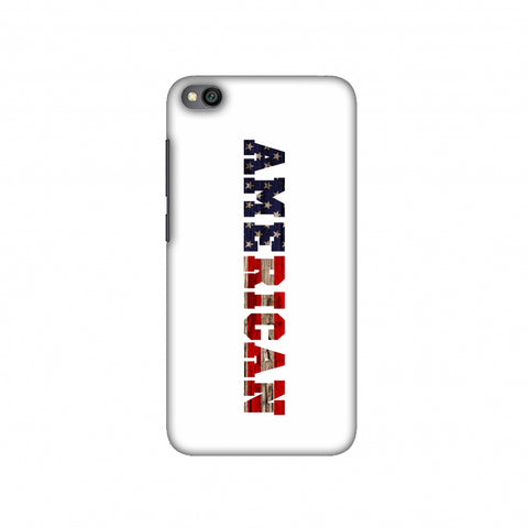 USA Flag - American Textured Slim Hard Shell Case For Redmi Go