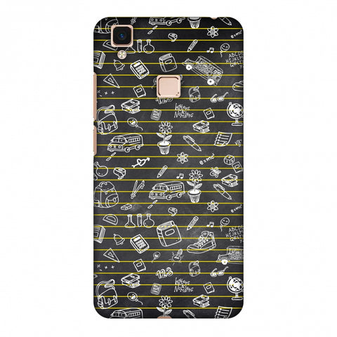 School Memories - Collage - Black Slim Hard Shell Case For Vivo V3 Max