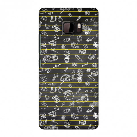 School Memories - Collage - Black Slim Hard Shell Case For HTC U Ultra