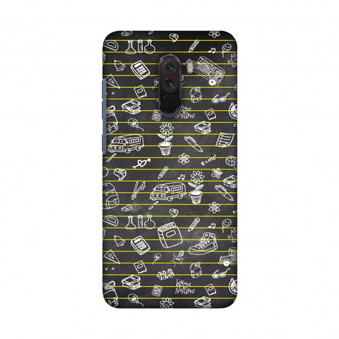School Memories - Collage - Black Slim Hard Shell Case For Xiaomi Poco F1
