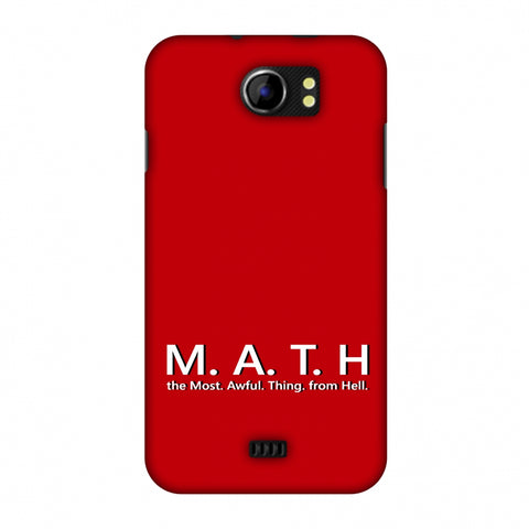 M.A.T.H. Slim Hard Shell Case For Micromax Canvas 2 A110