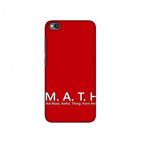 M.A.T.H. Slim Hard Shell Case For Redmi Go