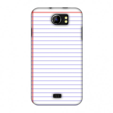 Notebook - Back To School Slim Hard Shell Case For Micromax Canvas 2 A110