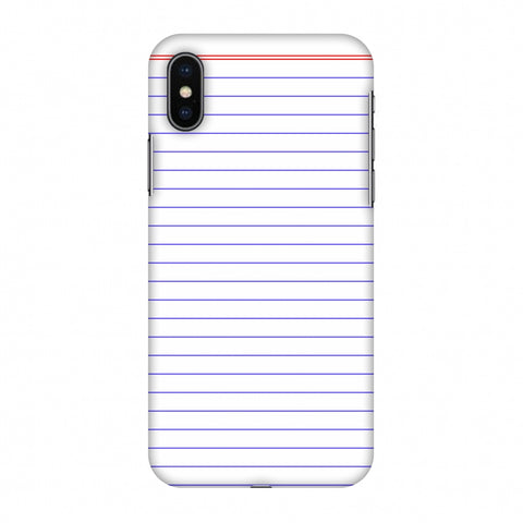 Notebook - Back To School Slim Hard Shell Case For Apple iPhone X