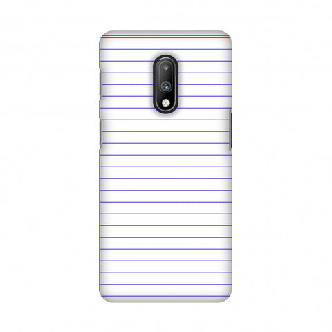 Notebook - Back To School Slim Hard Shell Case For OnePlus 7