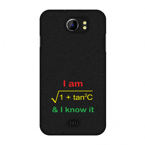 I Am Sec C! Slim Hard Shell Case For Micromax Canvas 2 A110
