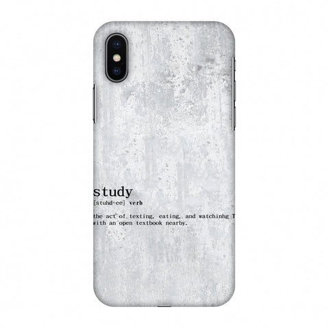Study Definition Slim Hard Shell Case For Apple iPhone X