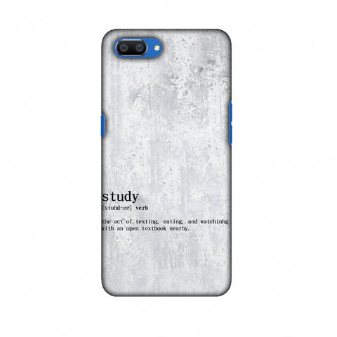 Study Definition Slim Hard Shell Case For Oppo Realme C1