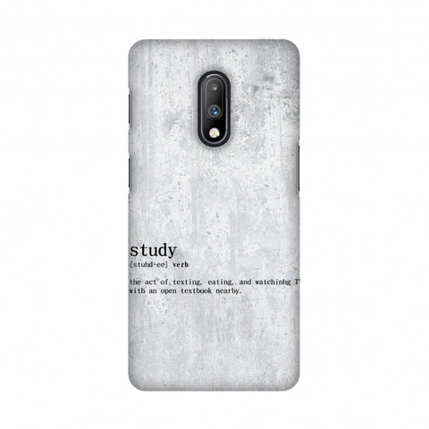 Study Definition Slim Hard Shell Case For OnePlus 7