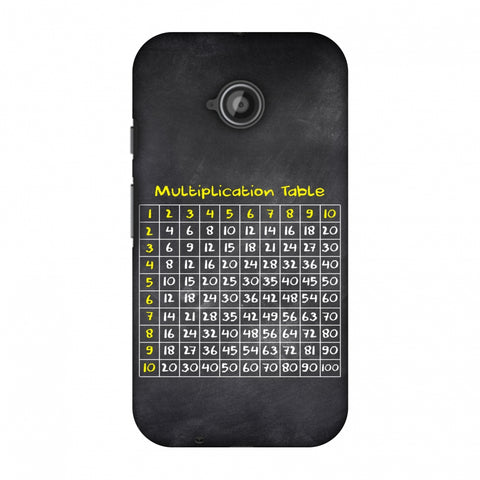 The Multiplication Table Slim Hard Shell Case For Motorola Moto E 2nd Gen