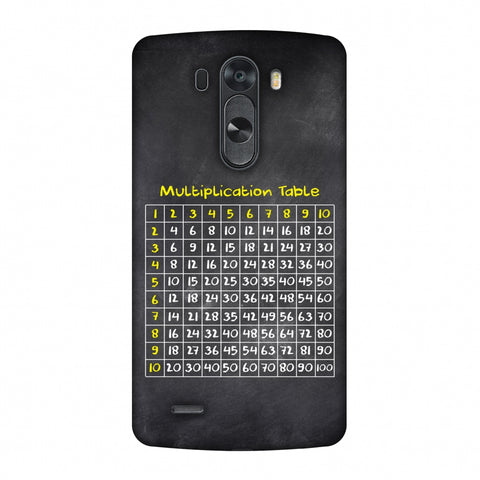 The Multiplication Table Slim Hard Shell Case For LG G4