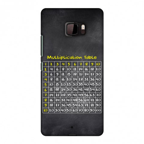 The Multiplication Table Slim Hard Shell Case For HTC U Ultra