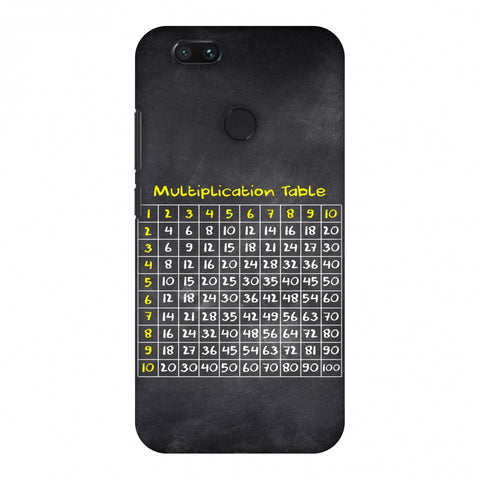 The Multiplication Table Slim Hard Shell Case For Xiaomi MI A1-5X
