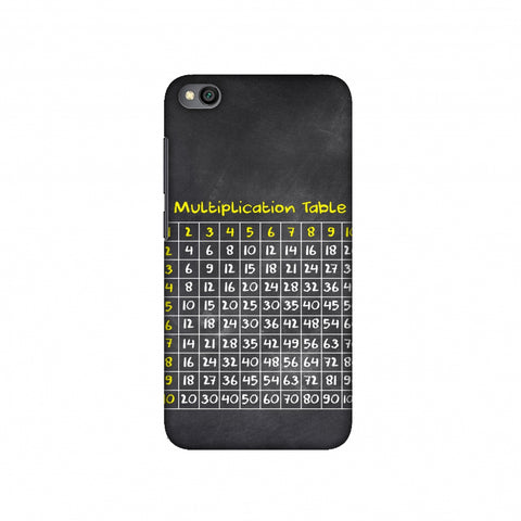 The Multiplication Table Slim Hard Shell Case For Redmi Go