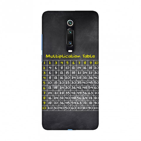 The Multiplication Table Slim Hard Shell Case For Redmi K20/K20 Pro