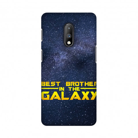 Best Brother In The Galaxy Slim Hard Shell Case For OnePlus 7