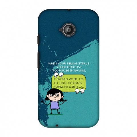 Stealing Sibling Slim Hard Shell Case For Motorola Moto E 2nd Gen