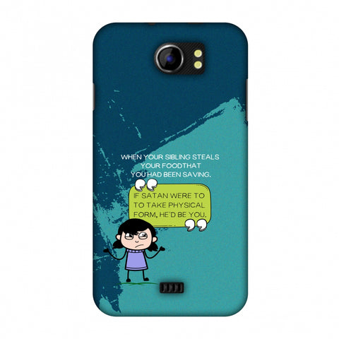 Stealing Sibling Slim Hard Shell Case For Micromax Canvas 2 A110