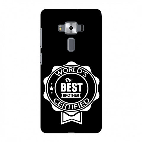 World's Certified The Best Brother Slim Hard Shell Case For Asus Zenfone 3 Deluxe ZS570KL