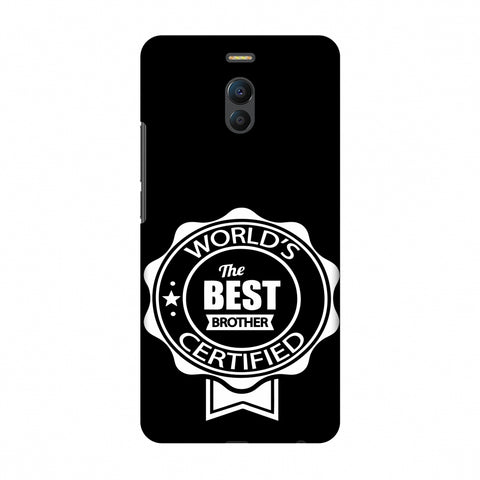 World's Certified The Best Brother Slim Hard Shell Case For Meizu Note 6